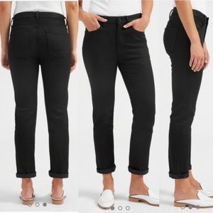 EVERLANE boy friend high rise black skinny jeans